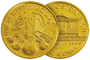 gold philharmonic coin