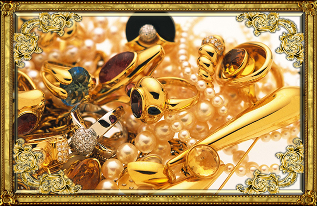 gold frame jewelry