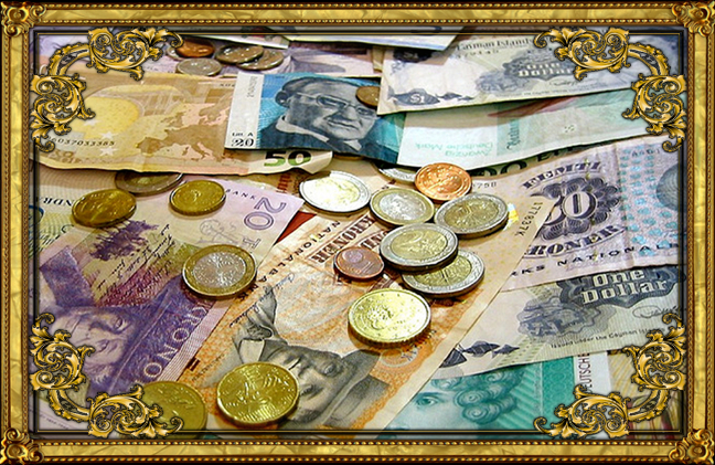 gold frame foreign currency