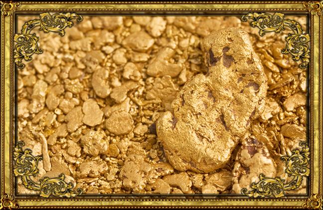 gold frame nuggets